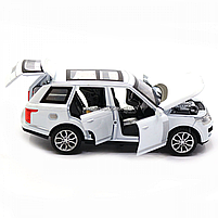 Машинка ігрова автопром «Range Rover» джип, метал, 15 см, білий (світло, звук, двері відкриваються) 7639, фото 8