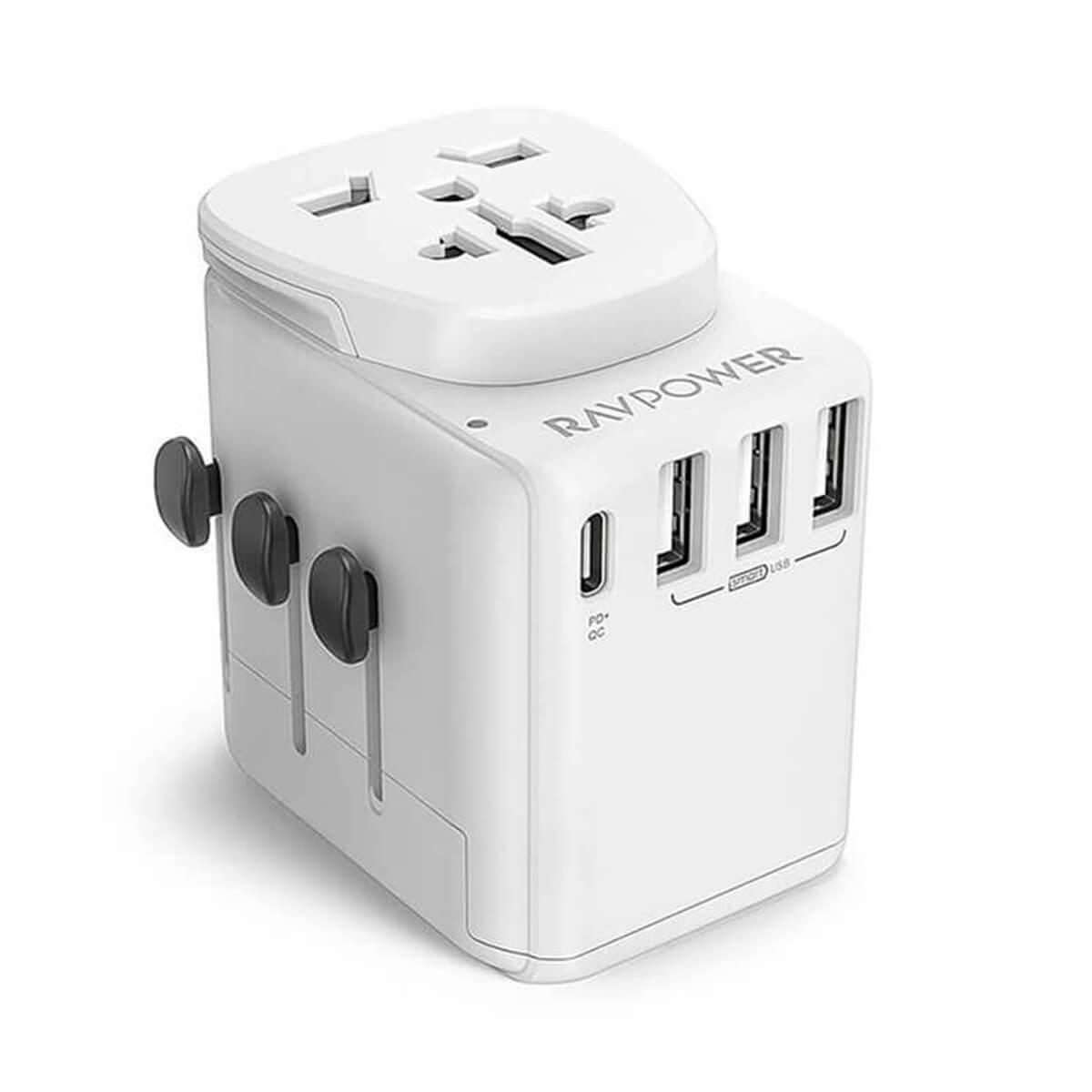 Сетевое зарядное устройство RAVPower Diplomat 30W 4-Port Travel Charger (RP-PC099)