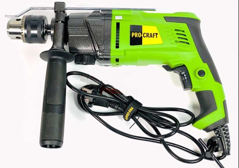 Дрель электрическая ударная ProCraft PS-1700/2 (двухскоростная). Дрель ПроКрафт