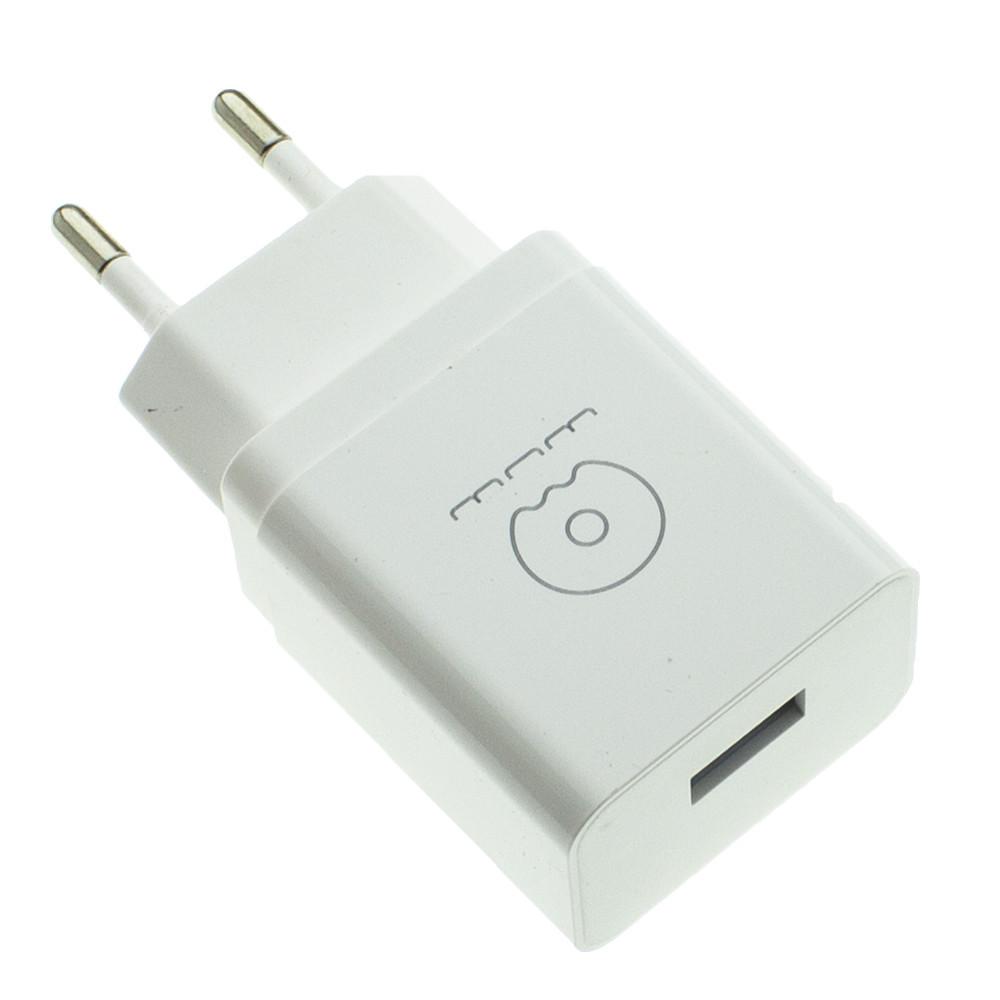 Зарядное устройство Wuw T28 2.1A 1 USB с кабелем Type C Белый (00-00007140)