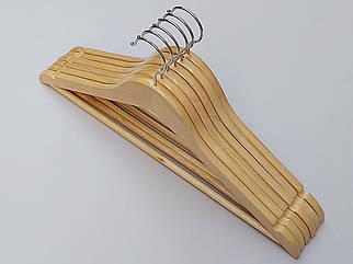"""Плічка довжиною 45 см дерев'яні світлі класу """"A"""", в упаковці 6 штук"""