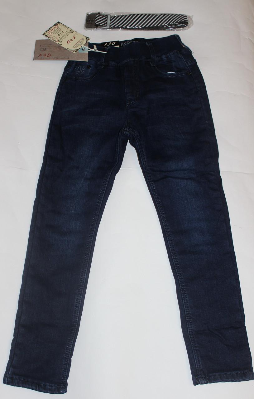 Детские утепленные джинсы на поясе резинка Размер 140 см, 146 см, 164 см