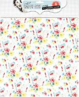 Бумага тканевая самоклеющаяся Цветы Happy Days