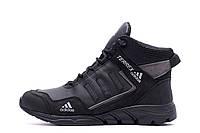 Чоловічі зимові шкіряні черевики TERREX Black Grey (репліка) р., фото 1