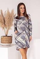 Женское трикотажное платье в клетку, фото 1