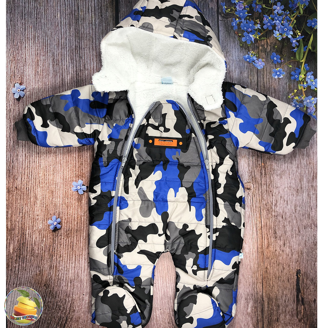 Теплі комбінезон - спальник на травичці для дитини Розмір: 3-6,6-9,9-12 місяців (20993)