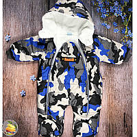 Тёплые комбинезон- спальник на травке для ребёнка Размер: 3-6,6-9,9-12 месяцев (20993)