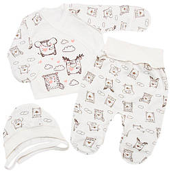 Комплект ясельный для новорожденного мальчика или девочки с начесом