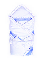 Конверт-одеяло с окантовкой на меху