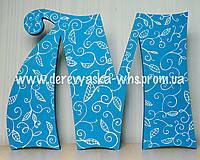 Объемные буквы с декоративной росписью