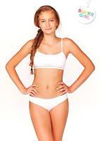 Комплект нижнего белья для девочки подростка: бюстгальтер-топ и трусики слип. Все размеры. Украина.