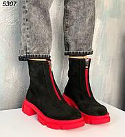 Ботинки женские натур замша 5307, фото 1