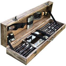 """Набор шампуров  """"Кабан"""" Gorillas BBQ в деревянной коробке"""