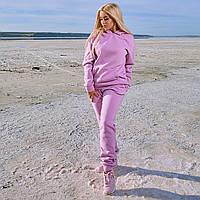 Женский зимний теплый спортивный костюм: кофта с капюшоном штаны с начесом, батал большие размеры