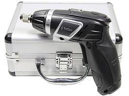 Аккумуляторная  отвёртка  Titan  ПАО3,6  +  комплект