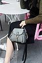 Модная сумка женская на широком ремне через плечо кроссбоди, цвет серый, фото 2