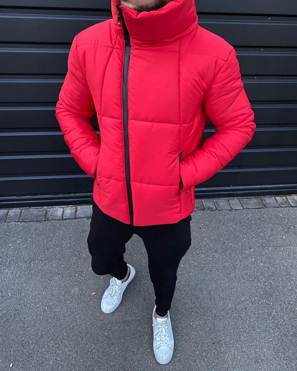 😜 Куртка - Мужскаяя красная куртка с хомутом
