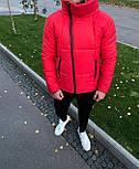 😜 Куртка - Мужскаяя красная куртка с хомутом, фото 4