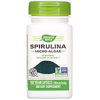 ОРИГІНАЛ!Американська сертифікована органічна спіруліна таблетки для схуднення,760 мг, 100 капсул