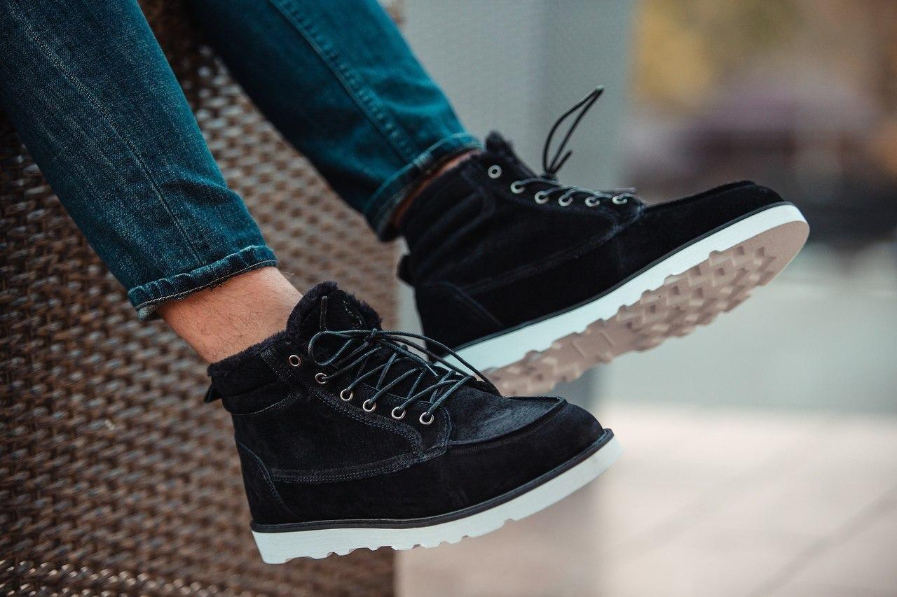 Черевики - чоловічі черевики на шнурках чорні