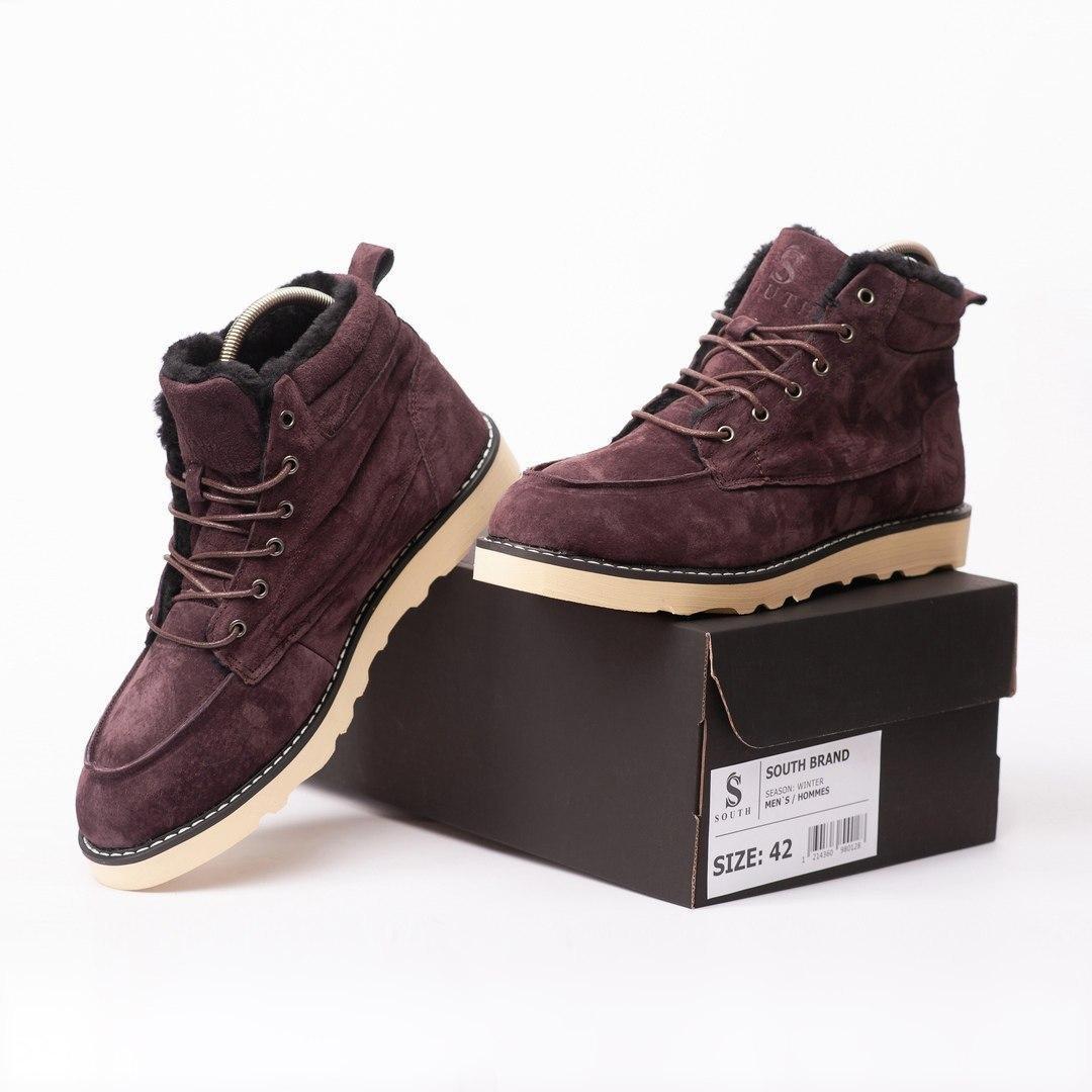 Ботинки - мужские ботинки на шнурках South indigo coffee