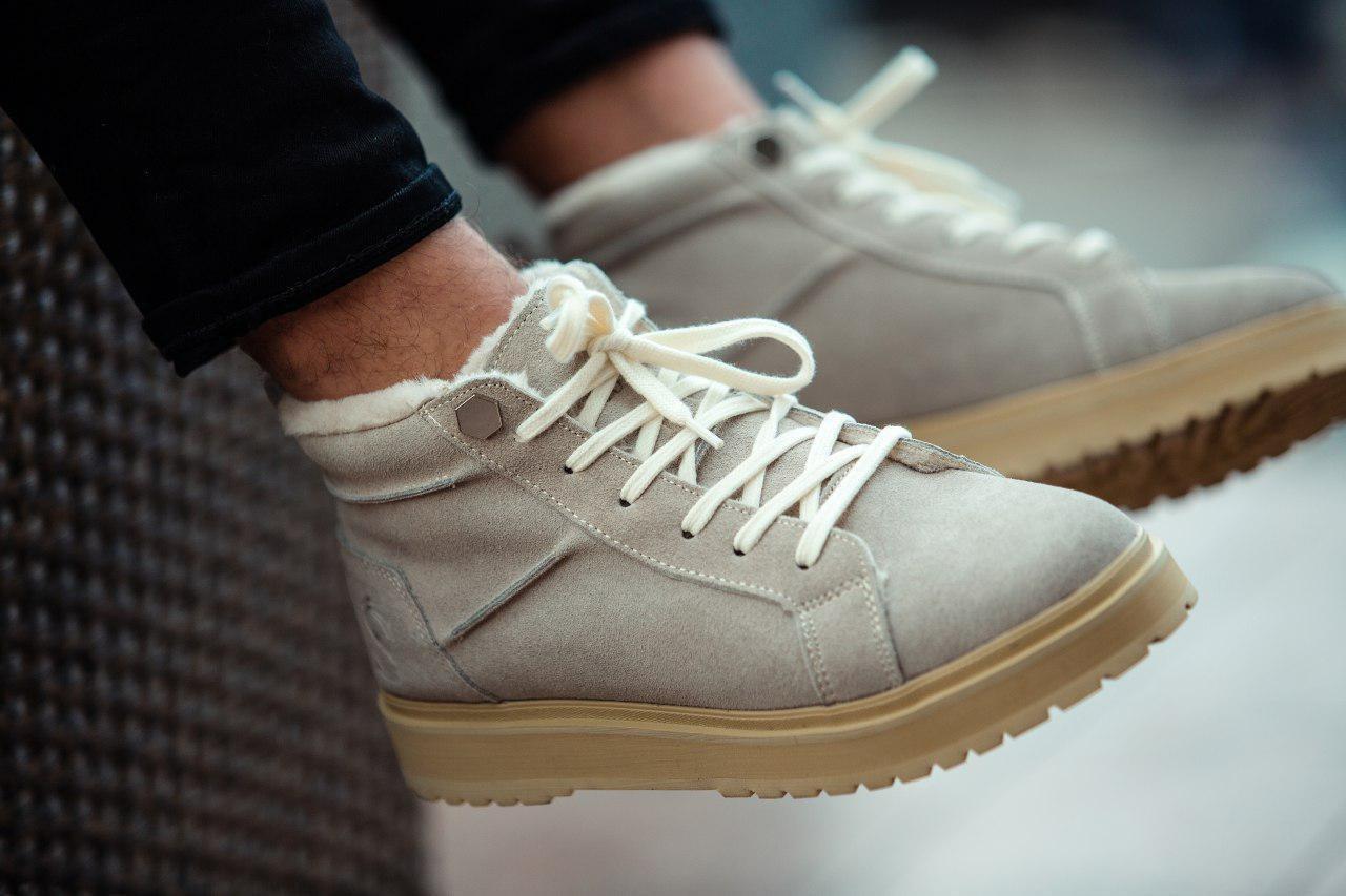 Ботинки - мужские ботинки на шнурках South navy ivory зима
