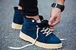 Черевики - чоловічі черевики на шнурках South dark navy blue зима, фото 5