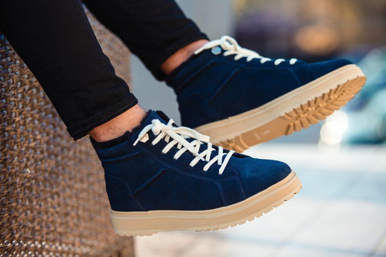 Черевики - чоловічі черевики на шнурках South dark navy blue зима