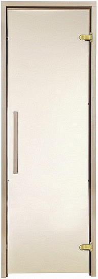 Стеклянная дверь для бани и сауны GREUS Premium 70/190 бронза матовая