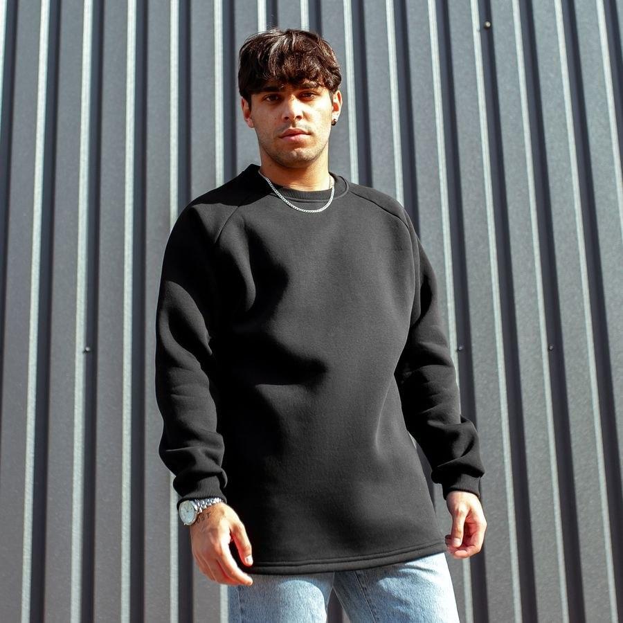 😜 Свитшот - Мужской базовый свитшот South basic fleece black  oversize