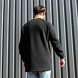 😜 Свитшот - Мужской базовый свитшот South basic fleece black  oversize, фото 2