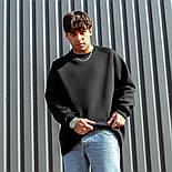 😜 Свитшот - Мужской базовый свитшот South basic fleece black  oversize, фото 3