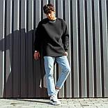 😜 Свитшот - Мужской базовый свитшот South basic fleece black  oversize, фото 4