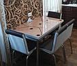 """Комплект обідній меблів """"Cappucino""""110*70 см (стіл ДСП, гартоване скло + 4 стільця) Mobilgen, Туреччина, фото 3"""