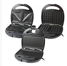 Гриль, вафельница, бутербродница, орешница Rainberg RB-5408 мультимейкер 4 в 1