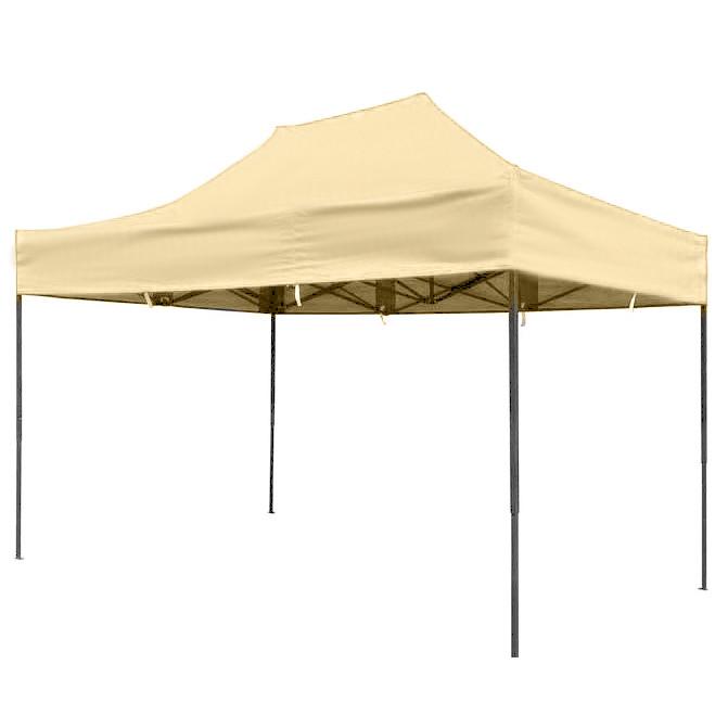 Бежевий розсувний намет 2х3 Вулична торгова палатка, Торгова палатка з щільним прогумованим тентом, фото 1