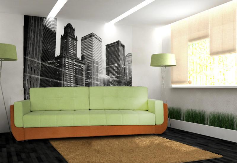 Диван-Кровать Фаворит прямой (DAVIDOS TM) - АБВ мебель в Днепре
