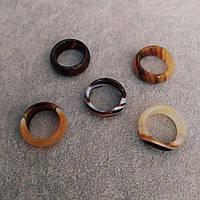 Кольцо из натурального камня Агат h-8-9мм р-р 20мм купить оптом в интернет магазине