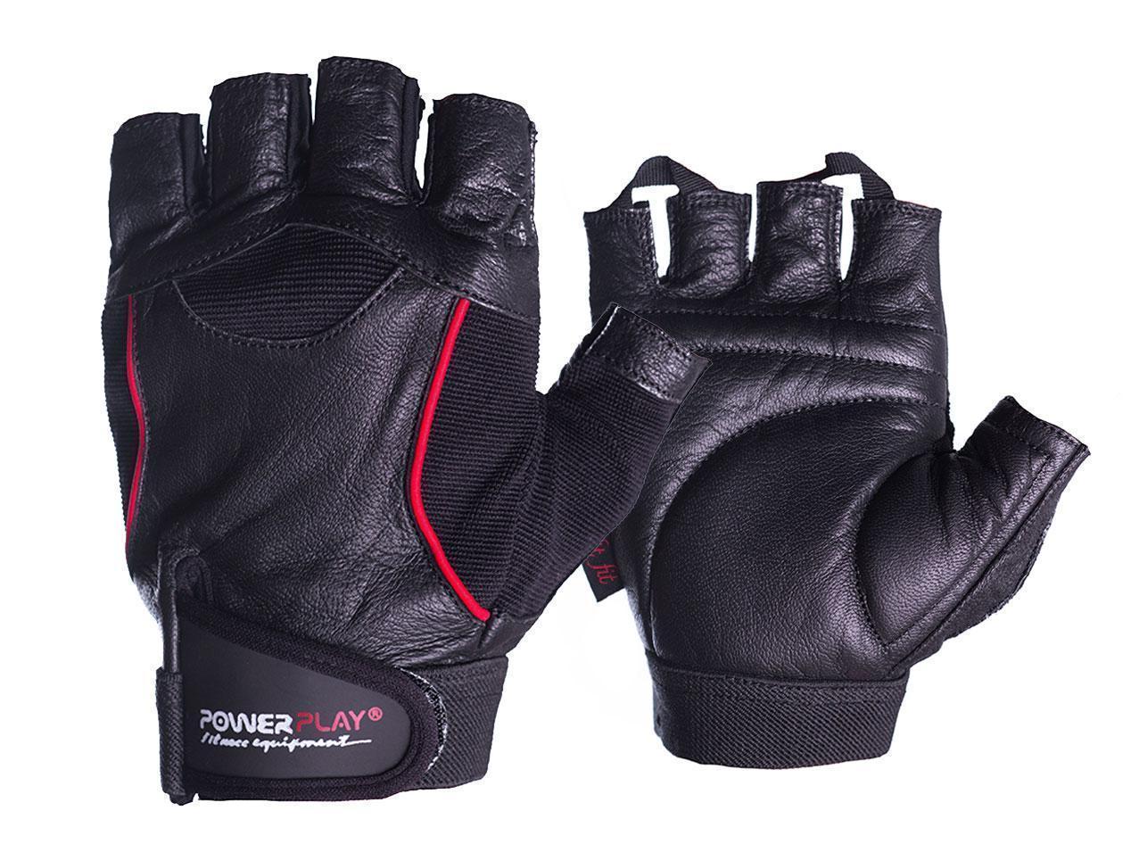 Рукавички для фітнесу PowerPlay 2127 Чорні L