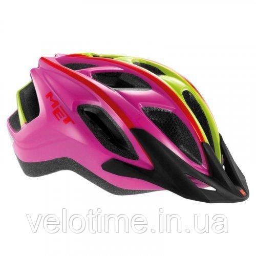 Шлем Met Funandgo (pink/red/green with mesh net)