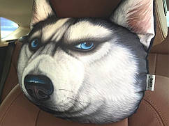 Подушки на подголовник с принтом животных 3D в авто