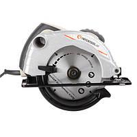 Пила дискова 1300 Вт, 5000 об/хв, кут нахилу 0-45° глибина розпилу 41/57 мм, диск 185*20 мм INTERTOOL DT-0613