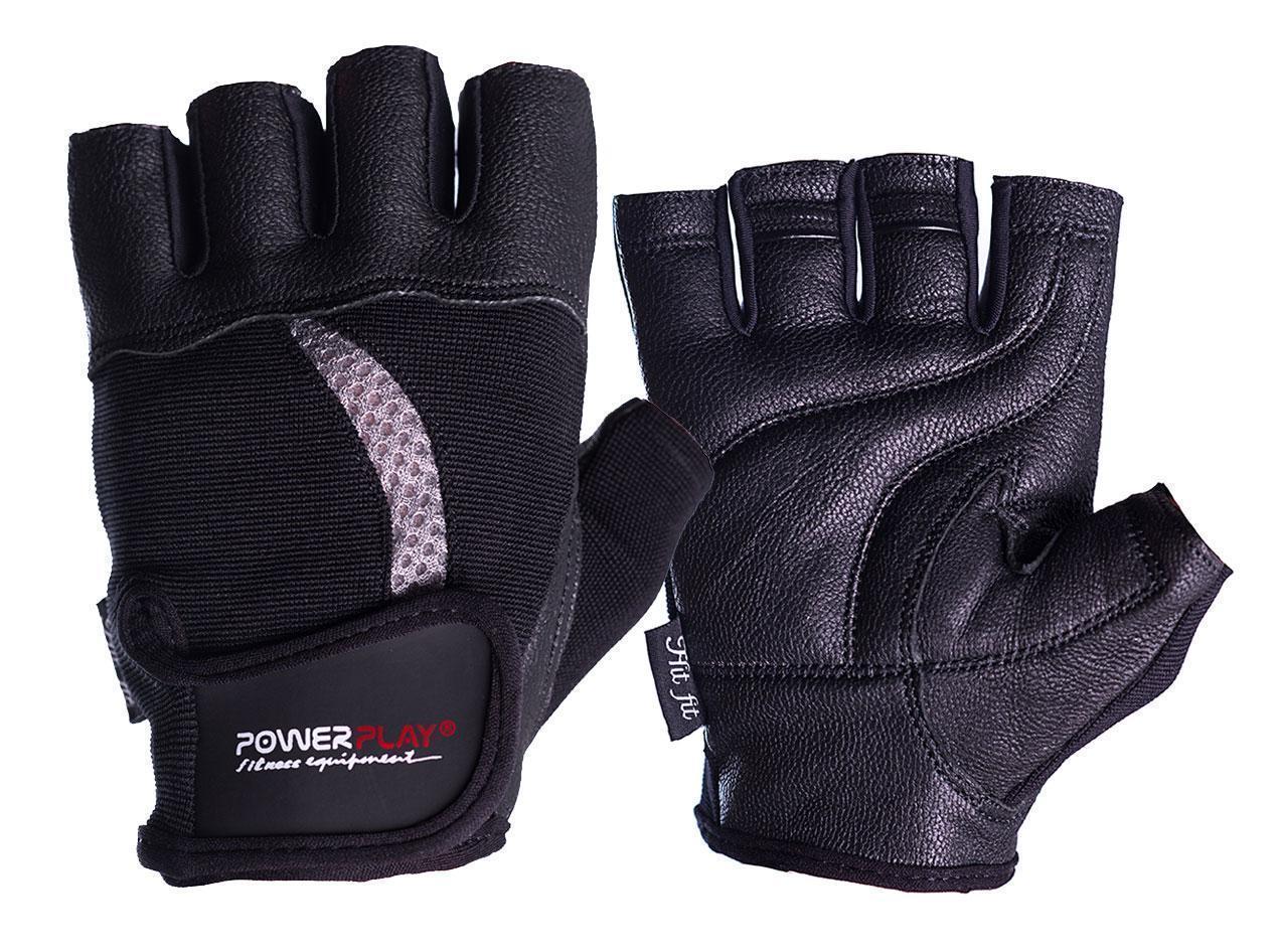 Рукавички для фітнесу PowerPlay 2114 Чорні L