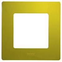 Рамка 1-постовая «Этика» – «Легранд», цвет «зелений папоротник»