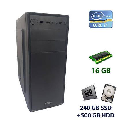 1stPlayer A2 Tower NEW / Intel Core i7-2600 (4 (8) ядра по 3.4 - 3.8 GHz) / 16 GB DDR3 / 240 GB SSD+500 GB HDD / nVidia GeForce GTX 1060, 6 GB GDDR5,, фото 2
