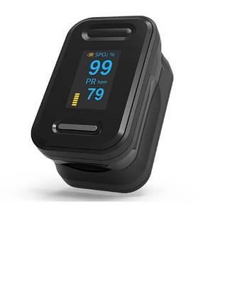 Пульсоксиметр на палец OYK-81C для изменения пульса и сатурации крови Pulse Oximeter Black (MAS40391)