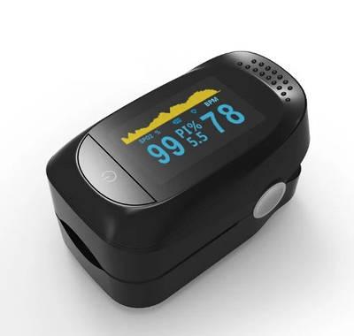 Пульсоксиметр на палец для измерения пульса, сатурации и индекса перфузии крови IMDK medical A2 (MAS40496)