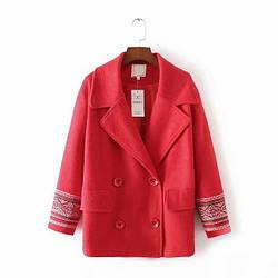 Пальто женское с вышитым орнаментом Tracery Berni Fashion (S)