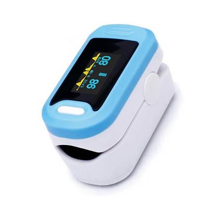 Пульсоксиметр на палец для измерения пульса и сатурации крови YONKER YK-88OLED Синий (MAS40499)