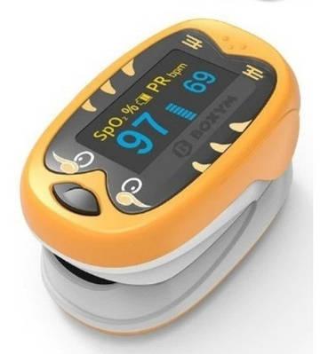 Детский пульсоксиметр на палец для измерения пульса и сатурации крови BOXYM oKids Оранжевый (MAS40500)